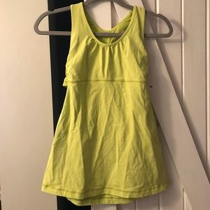 Lululemon athletica Turbo Tank - split pea color